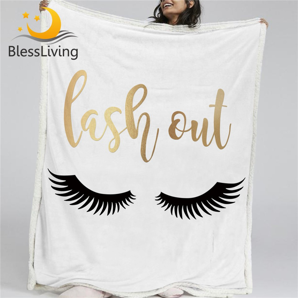 Gold Eyelash Blanket