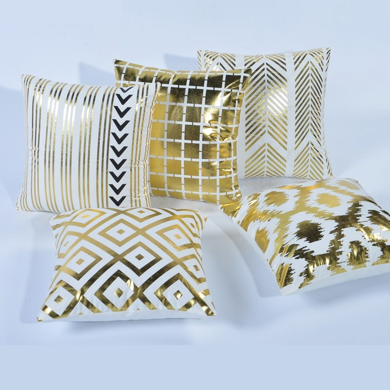 Gold Linen Design Cushion...