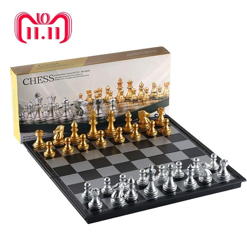 Stainless Steel Travel Chess Magnetic Metal Chess Magnetic Chess Chess