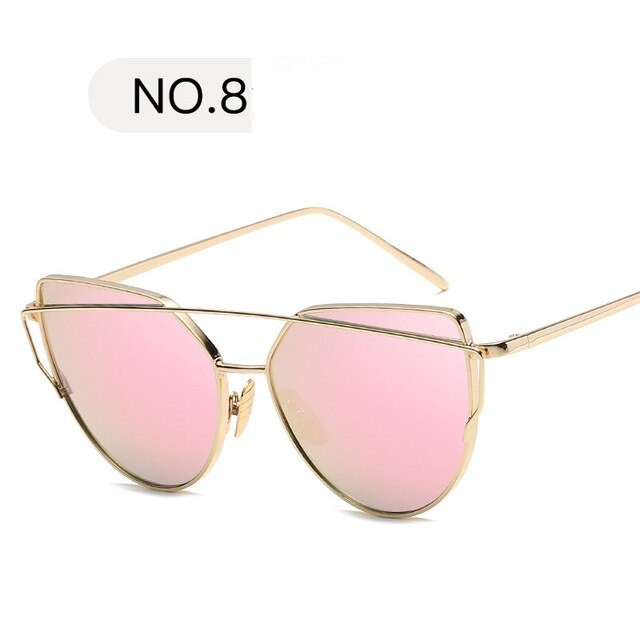 Cat Eye Gold Tinted Womens...