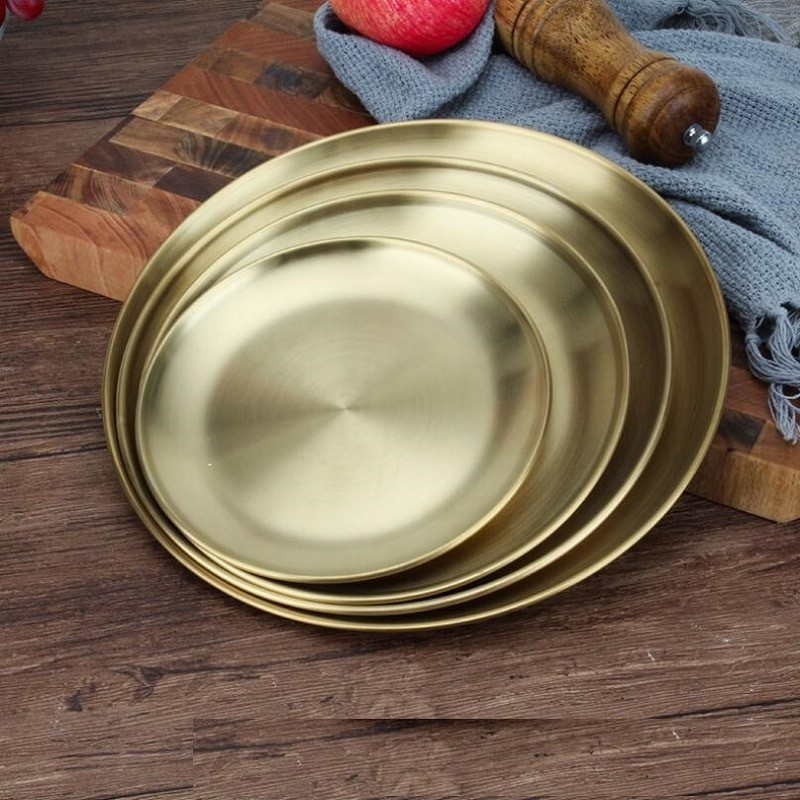 Gold Stainless Steel Plates