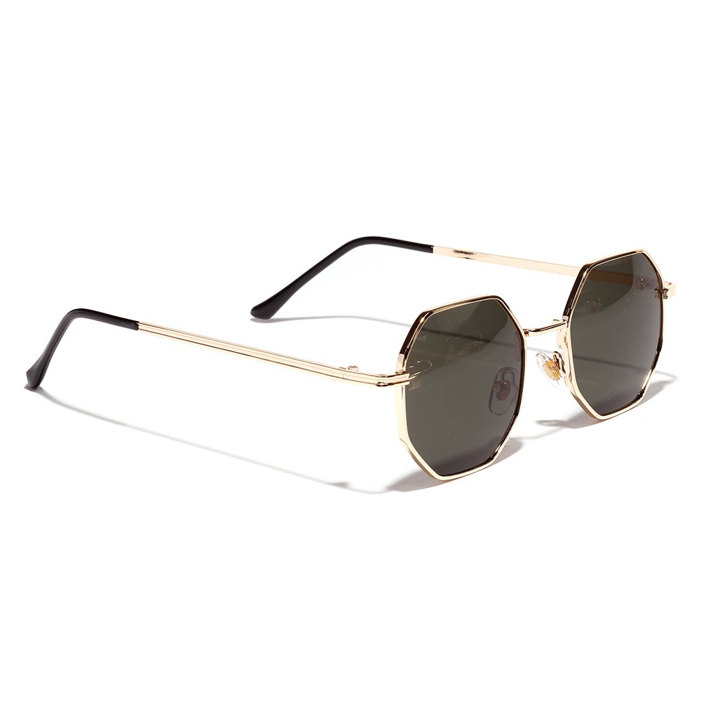 Octagon Gold Unisex Sunglasses