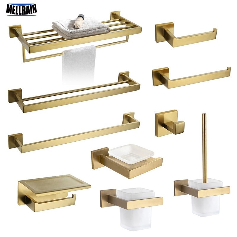 Gold Bathroom Hardware Set