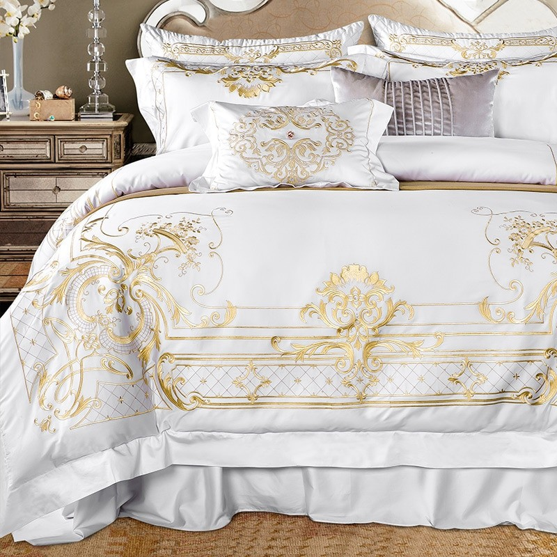 White Egyptian Cotton Gold...