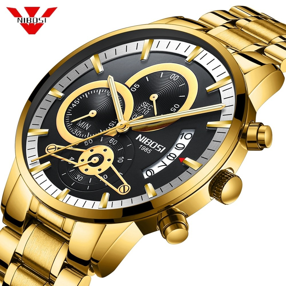 Mens Gold Stylish Watch