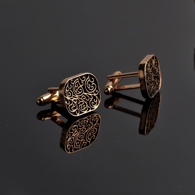 Vintage Design Gold Cufflinks