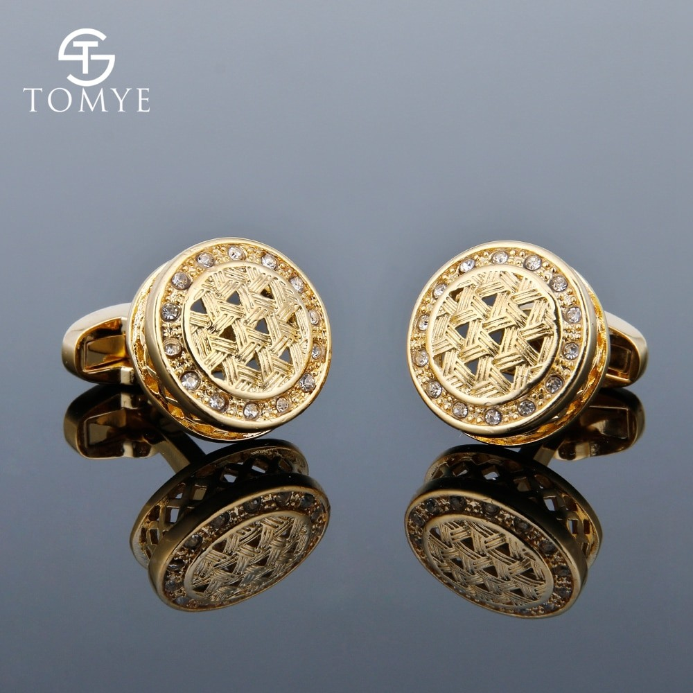 Crystal Gold Merge Cufflinks