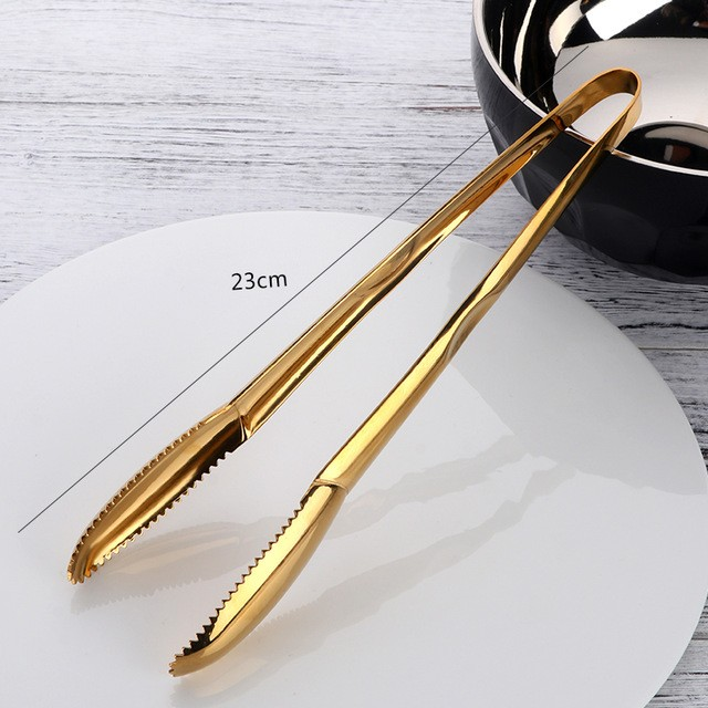 Gold Stainless Steel Tongs