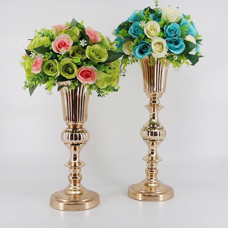 Gold Flower Vase Centerpiece