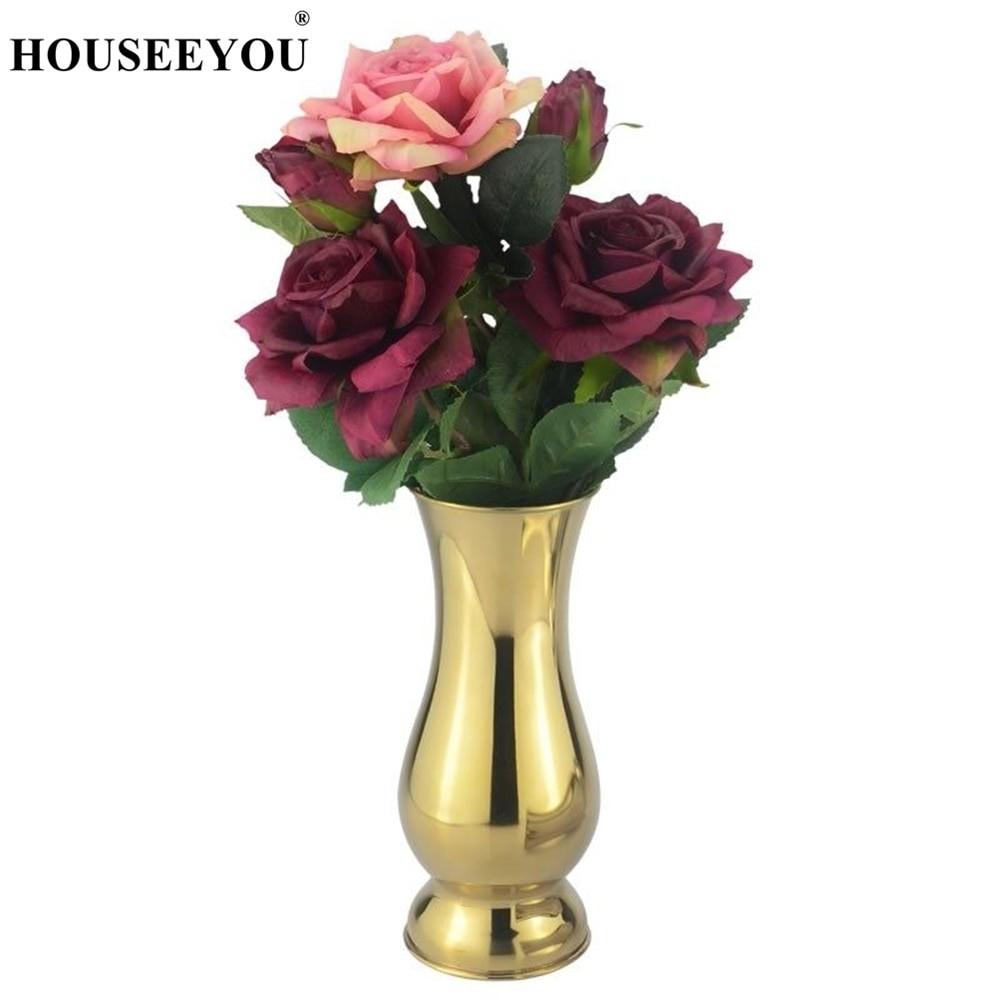 Modern Gold Tabletop Vase