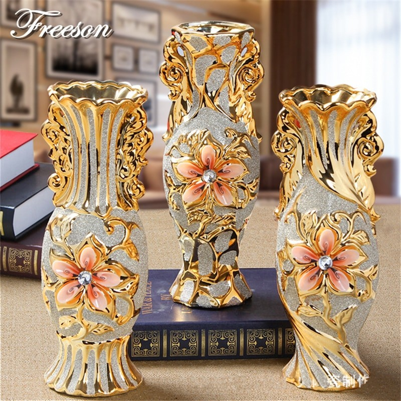 Gold Vintage Style Vase