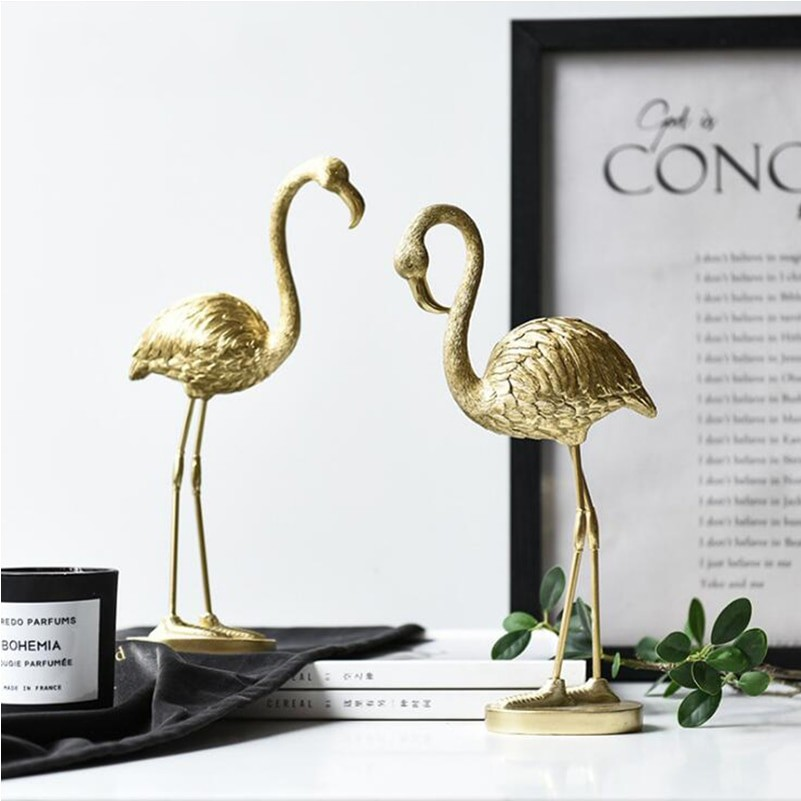 Decorative Gold Flamingo
