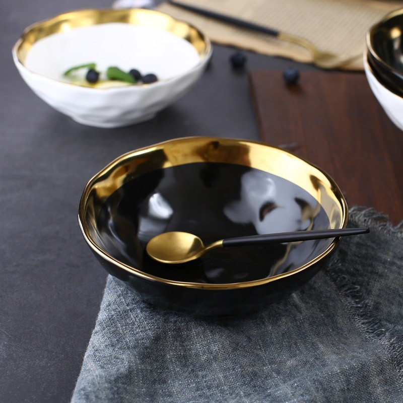 Gold Ceramic Bowl