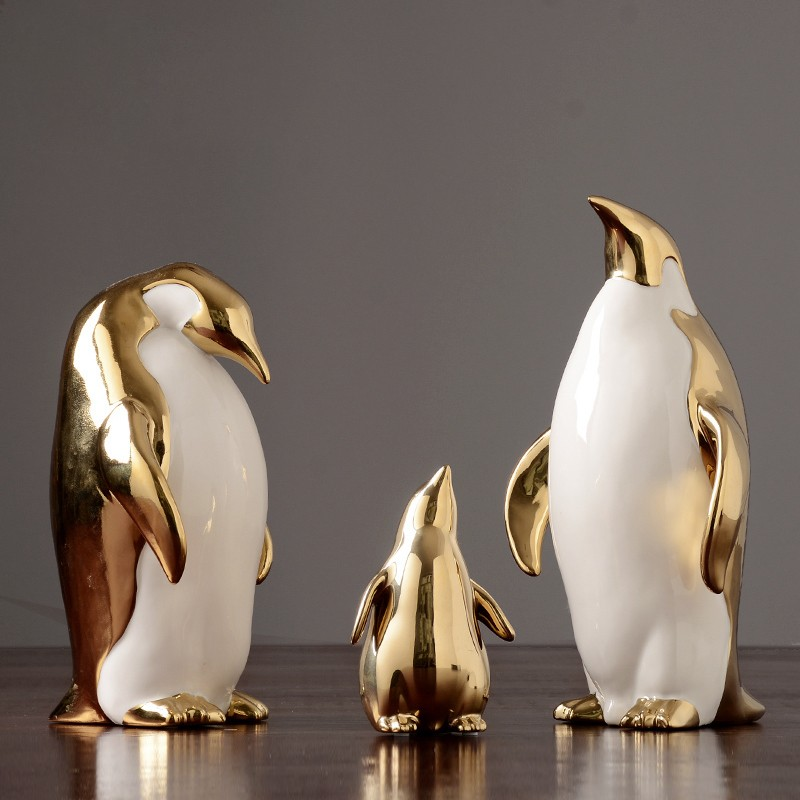Gold Nordic Style Penguin...