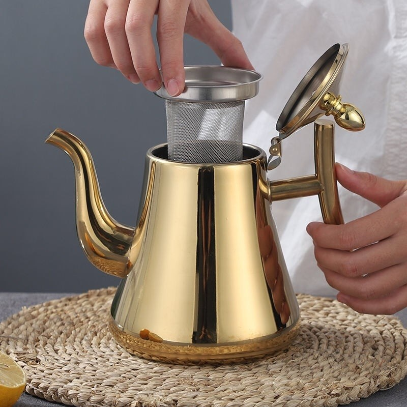 Gold Stainless Steel Teapot