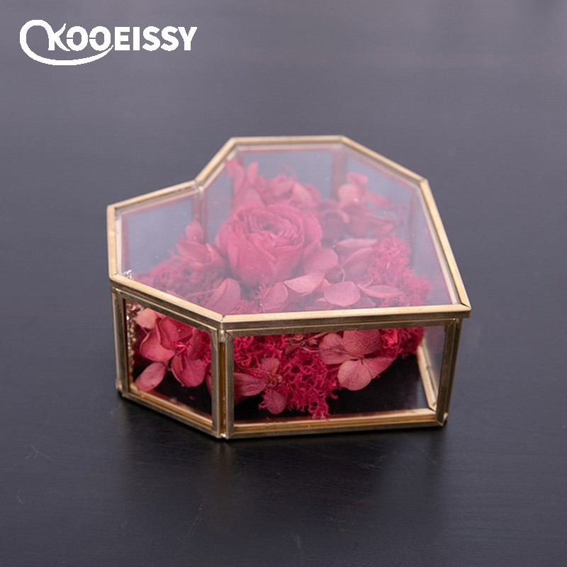 Gold Geometry Glass Container