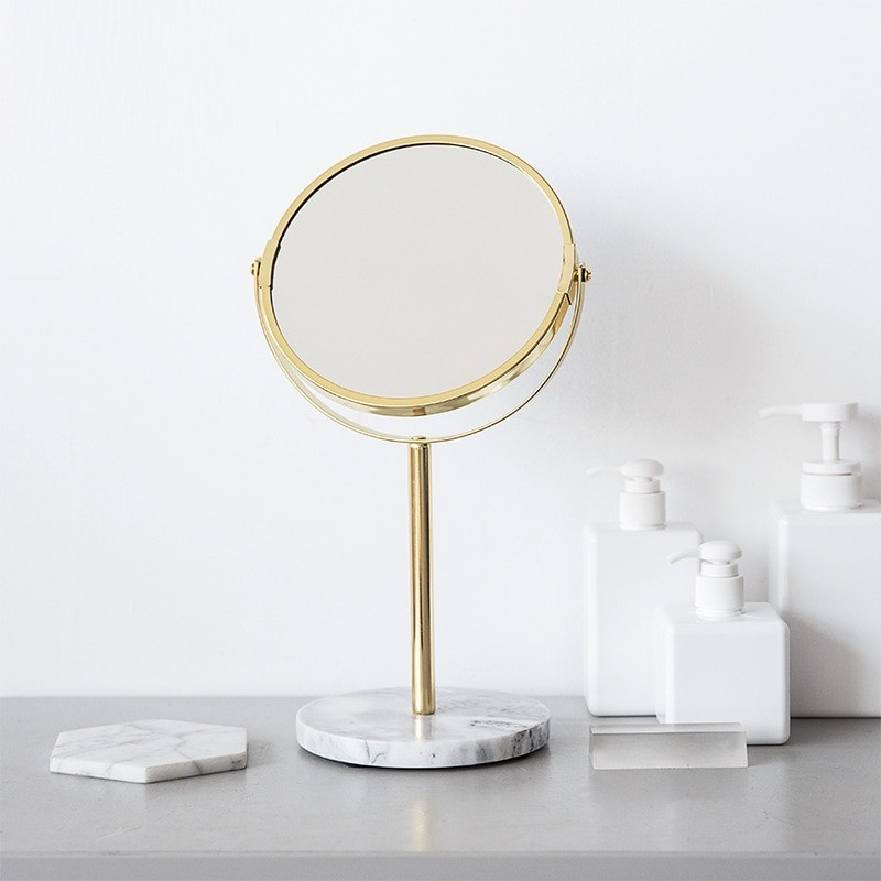 Luxury Marble Base Gold Mirror