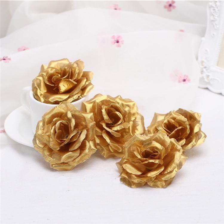 Gold Artificial Flower Heads