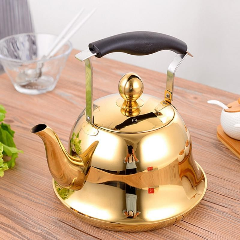 Whistling Gold Tea Pot Kettle